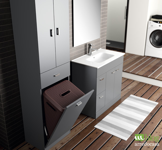 Bagno di servizio arredo semplice e pratico m blog for Mobili salvaspazio bagno