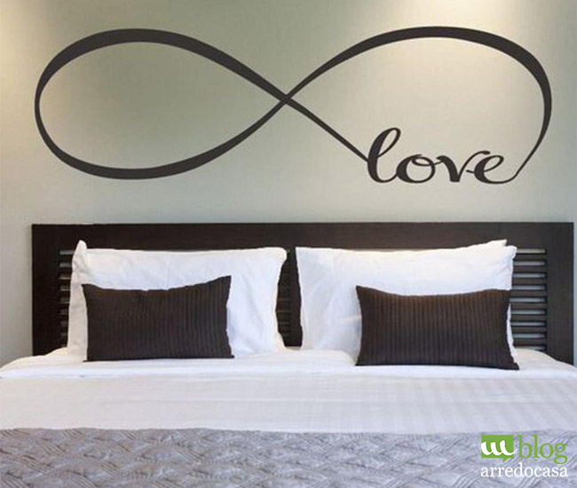 Decorare le pareti con scritte e wall stickers m blog - Stickers per camera da letto ...