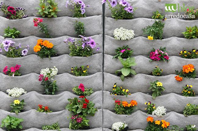 giardini con materiali di riciclo