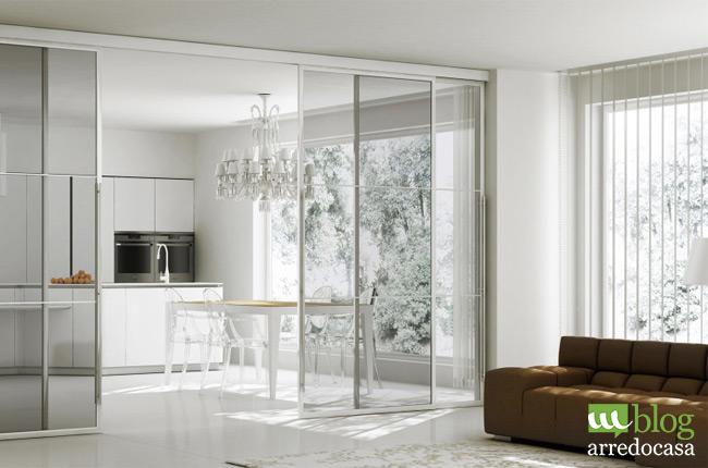 Pareti divisorie e porte in vetro per cucina e soggiorno - M.Blog