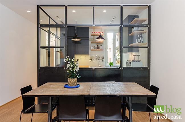 Pareti divisorie e porte in vetro per cucina e soggiorno ...