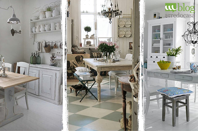 Arredamento shabby per la tua cucina quali mobili for Mobile cucina shabby