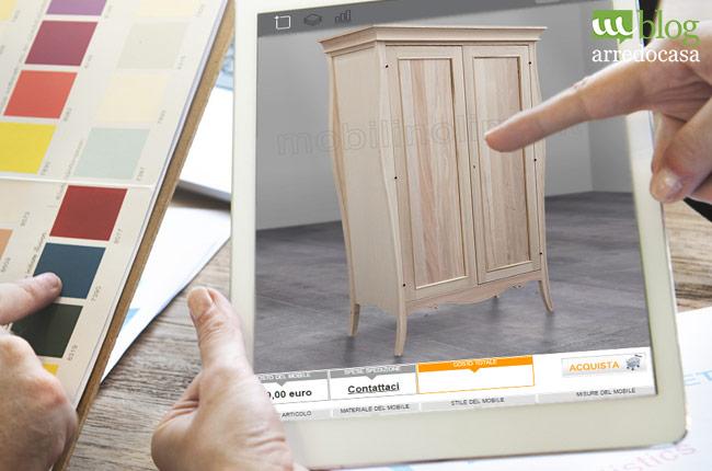 5 idee per un arredamento low cost m blog for Mobili grezzi on line