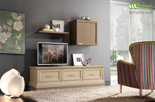 Ordinare il soggiorno con una parete attrezzata contemporanea - M.Blog
