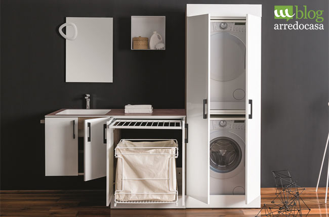 Arredamento lavanderia praticit e organizzazione degli - Arredo per lavanderia di casa ...