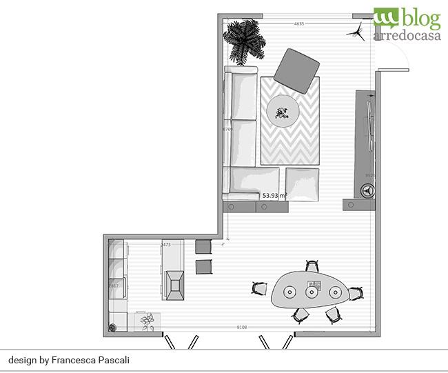 Come arredare un soggiorno piccolo con angolo cottura m blog for Arredare angolo cottura piccolo