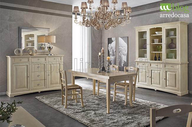 Arredare con i mobili decapati in stile provenzale shabby - Sala da pranzo shabby ...