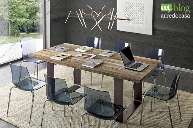 Tavoli industrial design il fascino del legno la for Tavolo industrial style