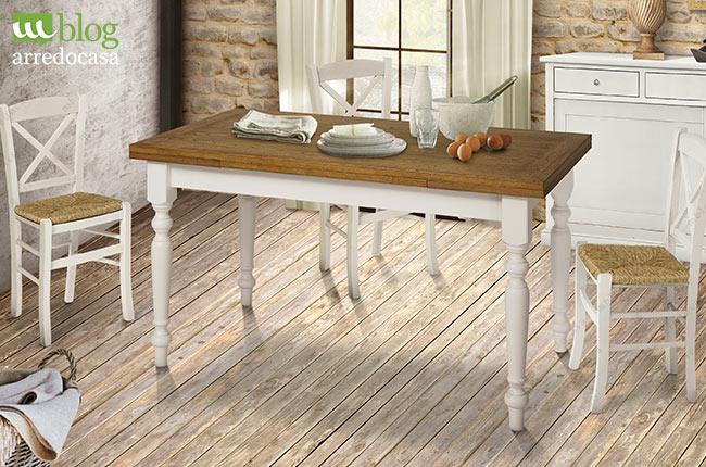 Beautiful sedie in paglia con tavolo bianco allungabile with arredare casa con poco - Idee per arredare casa con poco ...
