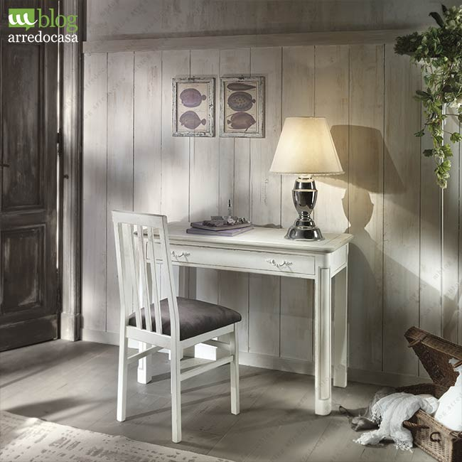 Stunning scrittoio in legno shabby chic with camerette country chic - Camerette country chic ...