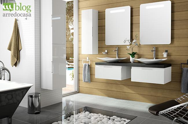 mobili bagno con doppio lavabo pro e contro