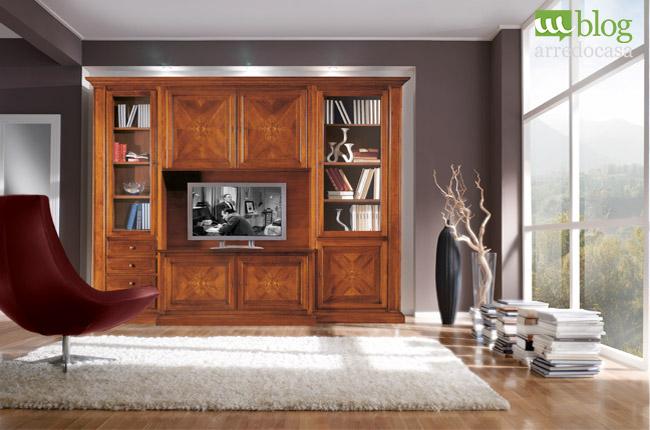 Parete attrezzata classica come scegliere quella giusta for Stile casa classica