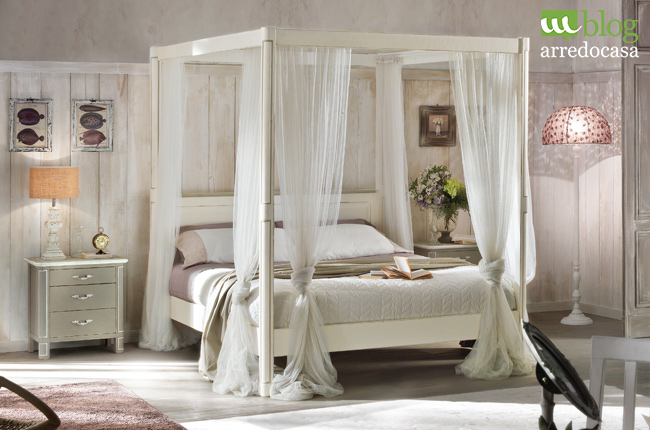 Cheap letto baldacchino in arte povera in stile shabby with camere country chic - Camere shabby chic ...