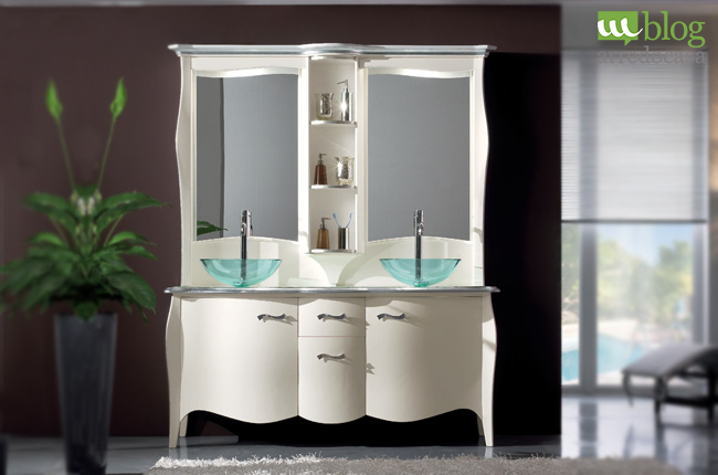 Mobili bagno in stile classico 3 soluzioni per te m blog for Mobile bagno doppio lavabo