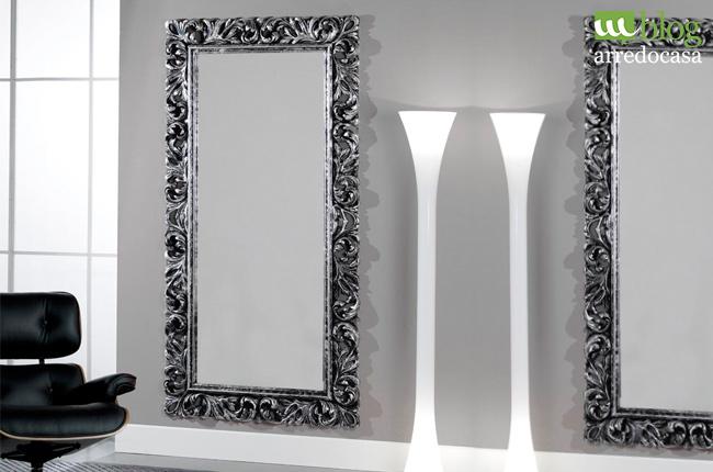 Specchiera in foglia argento per il tuo ingresso - M.Blog