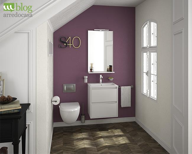 Simple mobile bagno sospeso dinamico e allegro with arredo for Arredo bagno piccole dimensioni