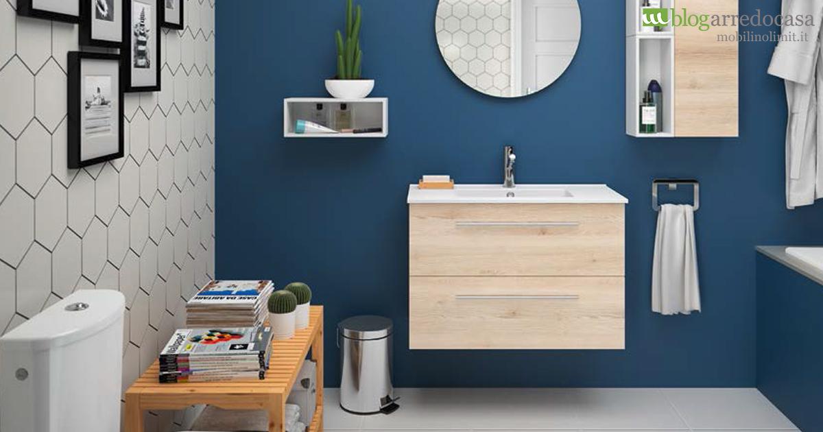 bagno moderni. mobile lavabo design moderno sospeso con maniglioni ... - Bagni Moderni Sospesi