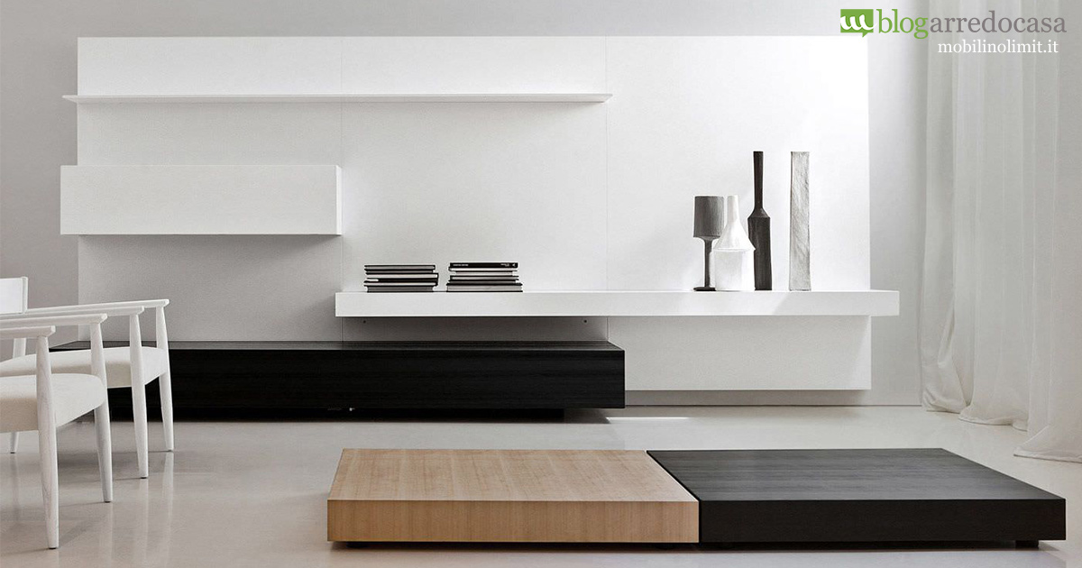 Arredamento minimal chic perch less is more m blog for Parete soggiorno minimal