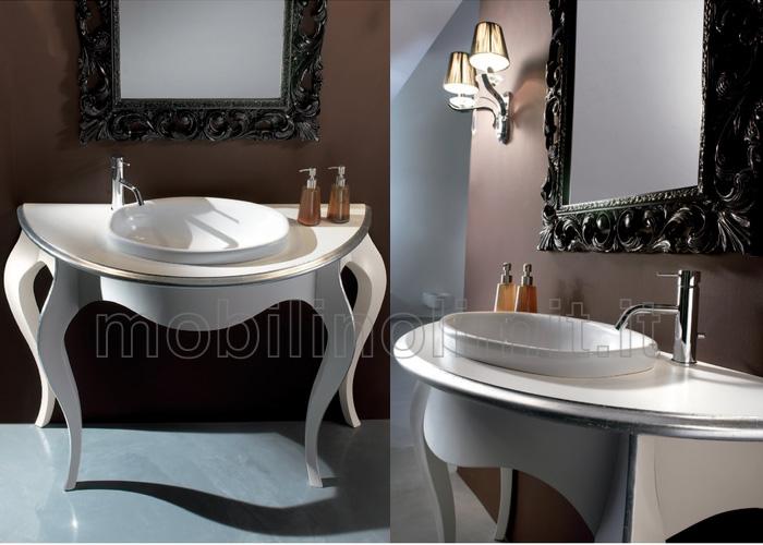Consolle bagno in foglia argento style 1 for Consolle bagno