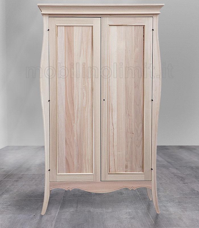 Armadio classico sagomato 2 ante grezzo for Obi pannelli legno