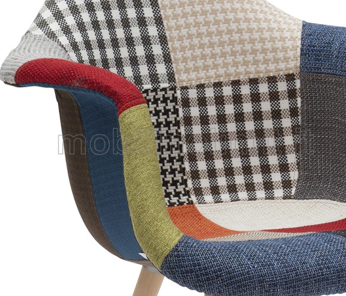 particolare del tessuto patchwork