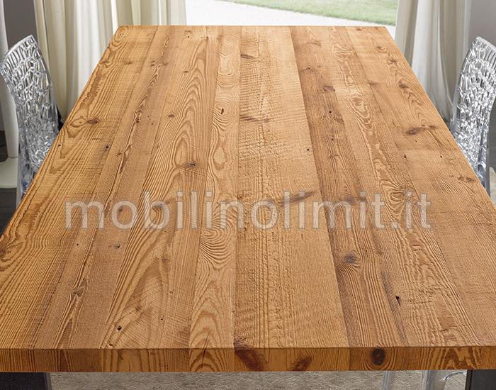 Piani Per Tavoli In Legno Vecchio.Tavolo Industrial Legno Vecchio Di Conifera Cera Naturale