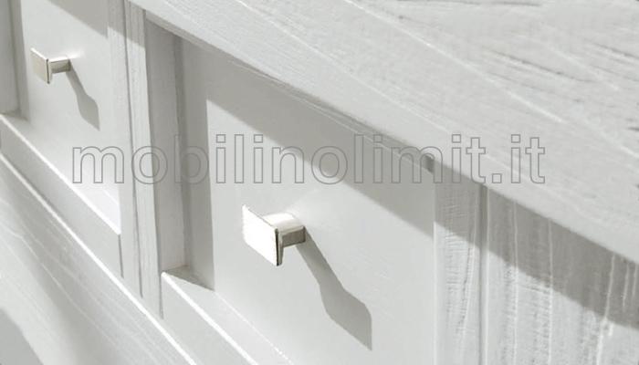 Credenza Bianca Con Ante Scorrevoli : Credenza bianca cassetti e ante in vetro scorrevoli linea natura