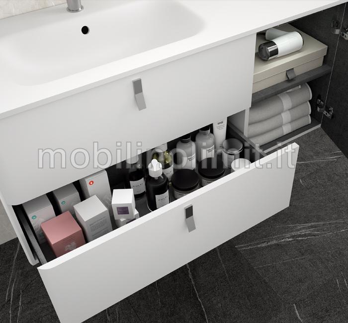 Vista interna del mobile bagno