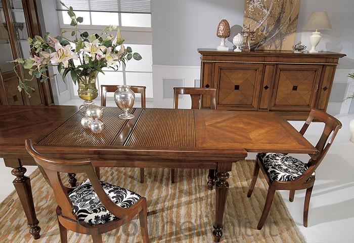 tavolo allungabile a serranda