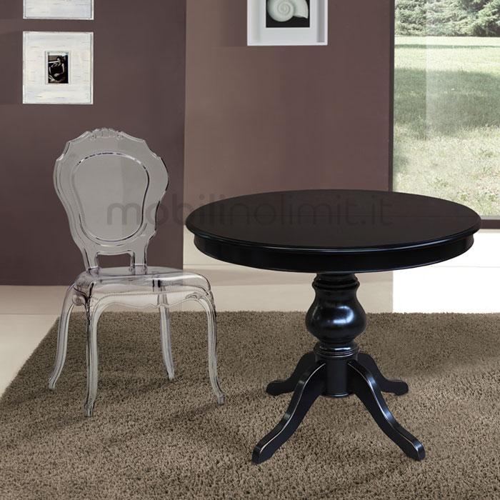 tavolo abbinato a sedia belle epoque trasparente