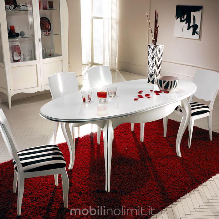 tavolo ovale con allunga