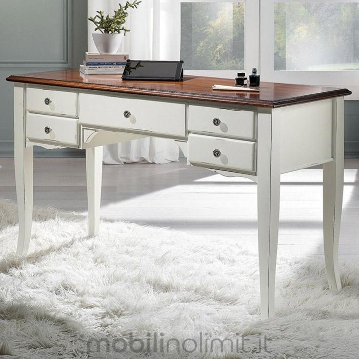 scrivania shabby chic in legno