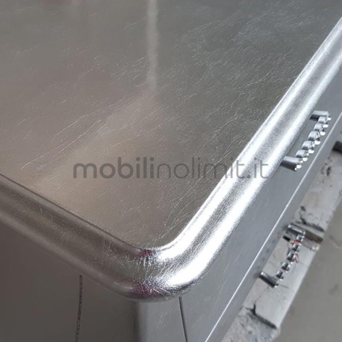 piano in foglia argento