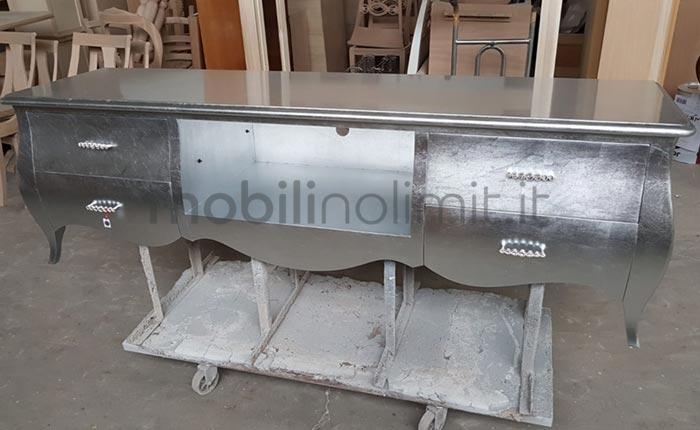 foto di laboratorio del mobile porta televisore bombato