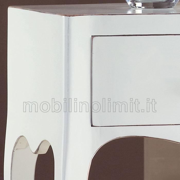 Consolle bianco opaco spigolato