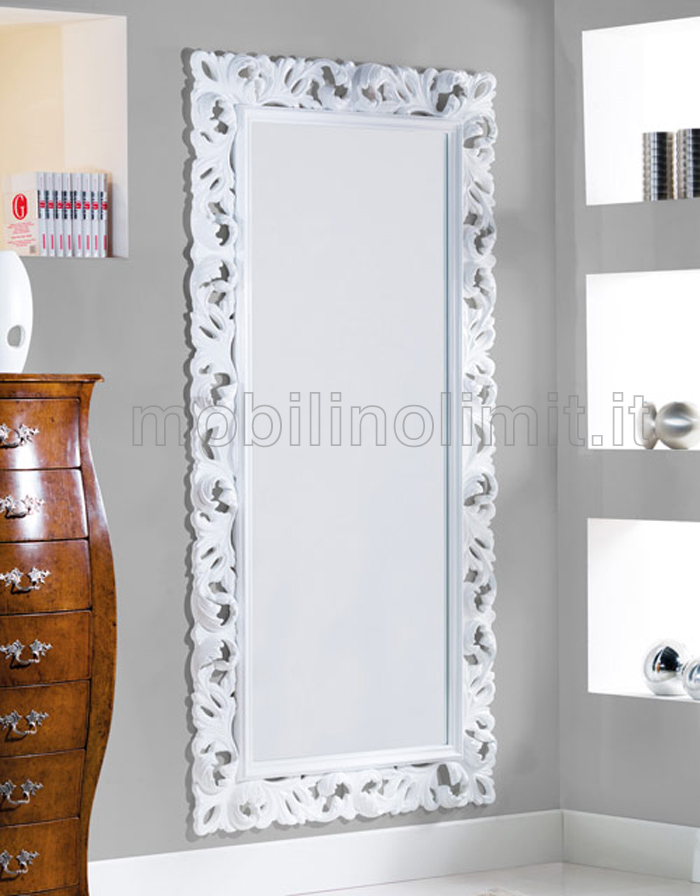 Specchiera bianca lucida for Cornice bianca foto