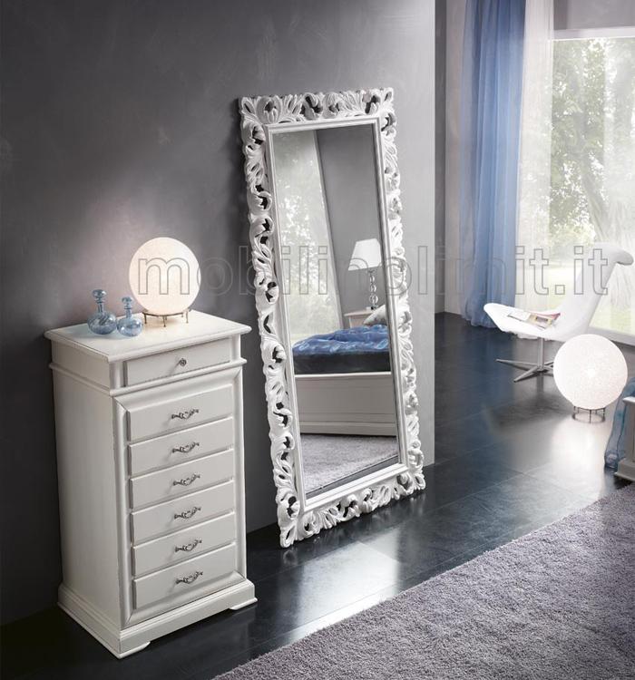 Specchiera bianca lucida