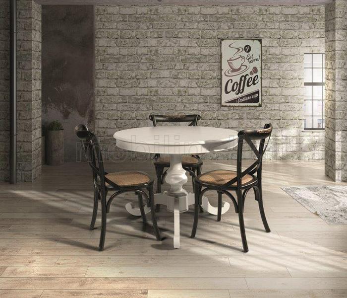Tavolo Rotondo Bianco Opaco 120