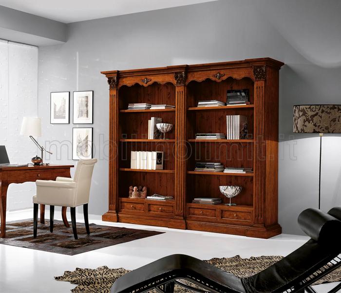 Libreria classica con 2 vani a giorno