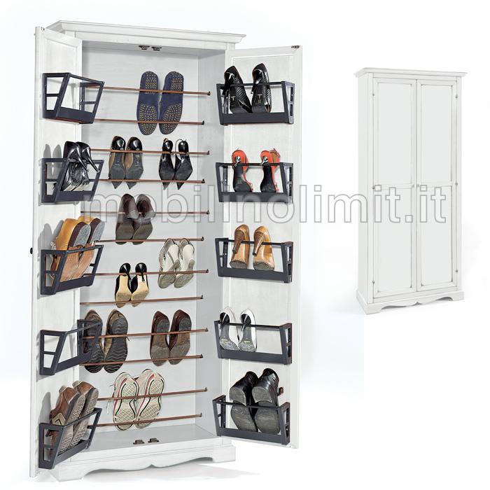 Salvaspazio scarpe armadio casamia idea di immagine for Armadio stoffa ikea