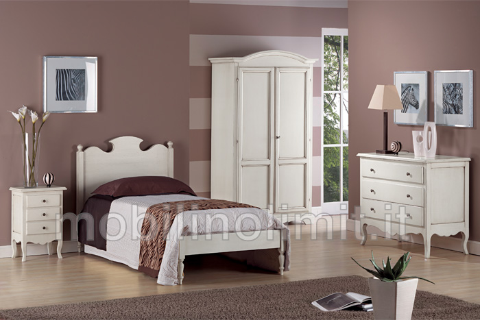Camera da letto una piazza grezzo for Idee per verniciare camera da letto