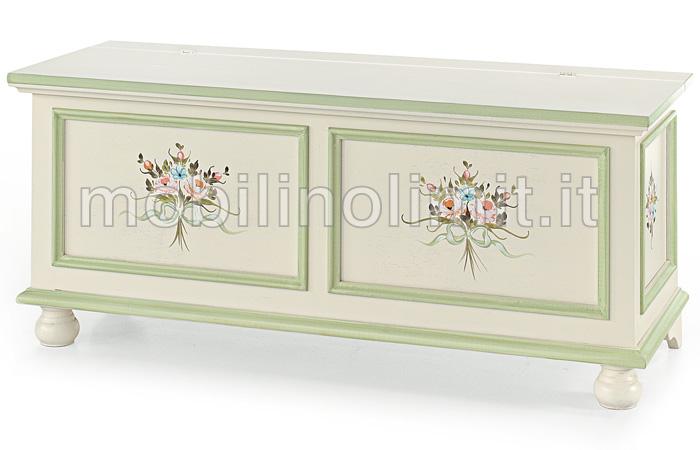 Cassapanca provenzale 120 x 44 cm for Bauli arredamento