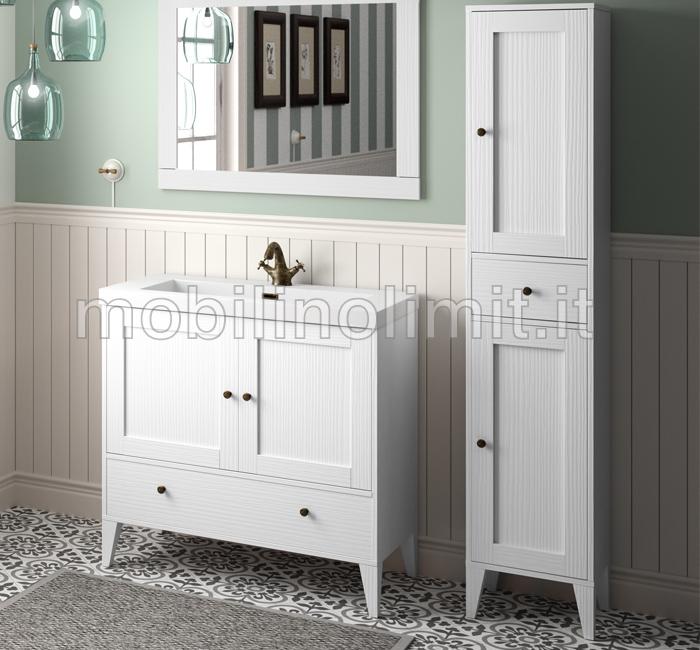 colonna bagno bianco vintage serie toscana. Black Bedroom Furniture Sets. Home Design Ideas