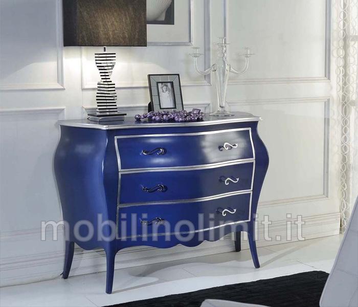 Com 3 cassetti blu e argento - Mobili urban chic ...