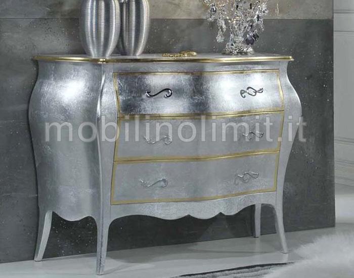 Com 3 cassetti foglia argento e oro - Mobili bagno como ...