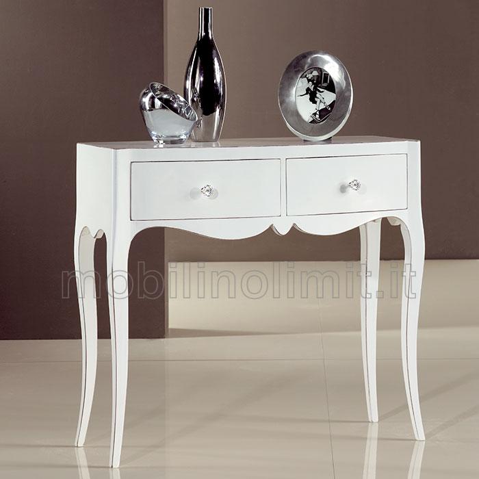 Consolle bianca 2 cassetti con bordi spigolati - Bordi per mobili ...