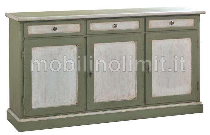 Credenza Moderna Verde : Credenza moderna in legno massello laccato a premariacco