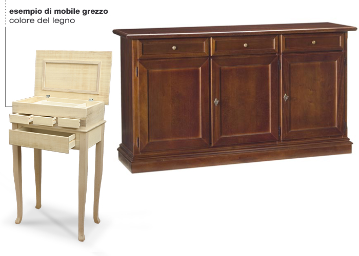 Credenza Ikea Misure : Credenza classica 3 ante grezza