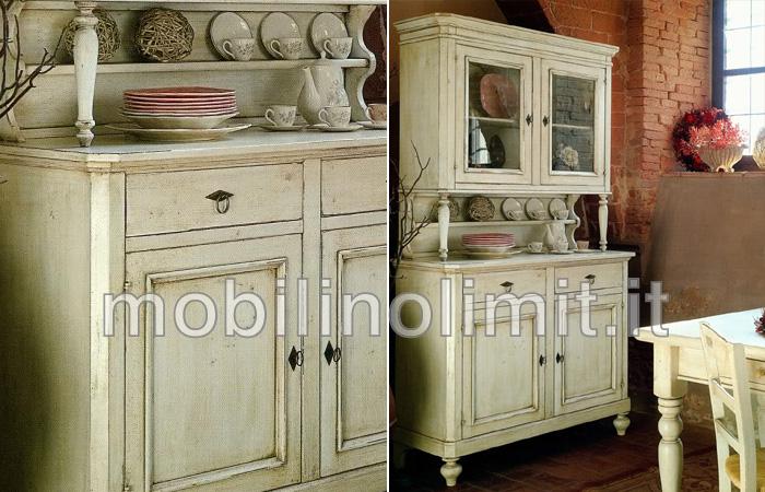 Cristalliera napoletana 2 ante finitura coloniale for Arredamento in stile coloniale