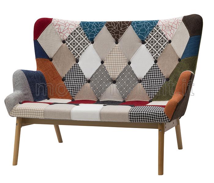 Divano vintage patchwork - Divano letto retro ...